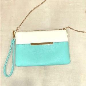 charming charlie teal handbag